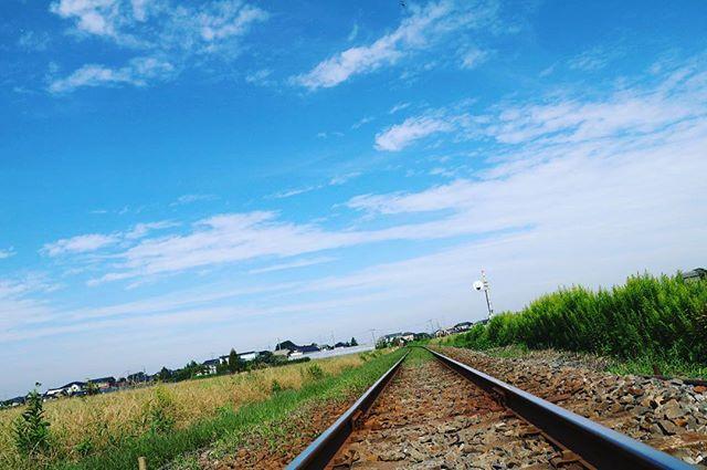 なんとなく線路とってみました笑 めっちゃ田舎笑